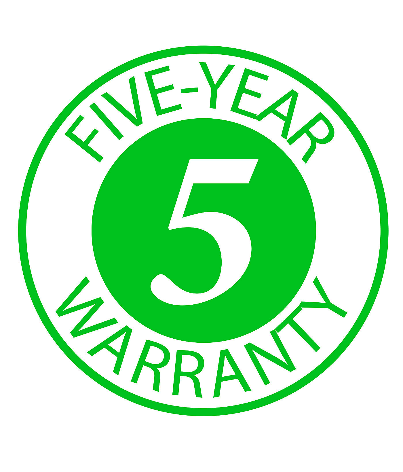 Five Year Warranty Logo
