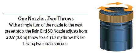 One nozzle...two throws