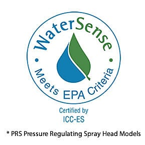 EPA WaterSense - Certified by ICC-ES