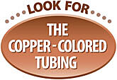 Look for the Copper Colored Tubing