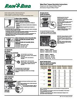 Ag 5 Maxi Paw Pop Up Impact Sprinkler Manual