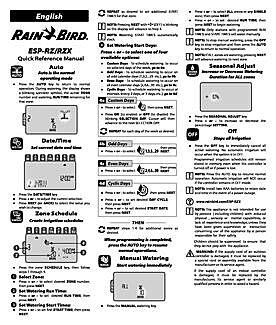 Rain Bird Support: ESP-RZX | Rain Bird Rain Bird Esp Rzx Wiring Diagram on