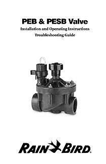 PEB & PESB Valve Rain Bird Scrubber Valve Wiring Diagram on rain bird valves repair diagram, rain collection diagram, rain bird valves troubleshooting,