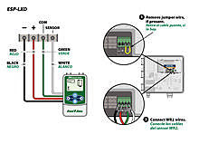 WR2 wiring diagram for Rain Bird ESP-LXD controllers on