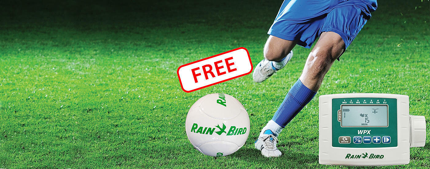 Free soccer ball when you purchase a WPX Battery Operated Controller